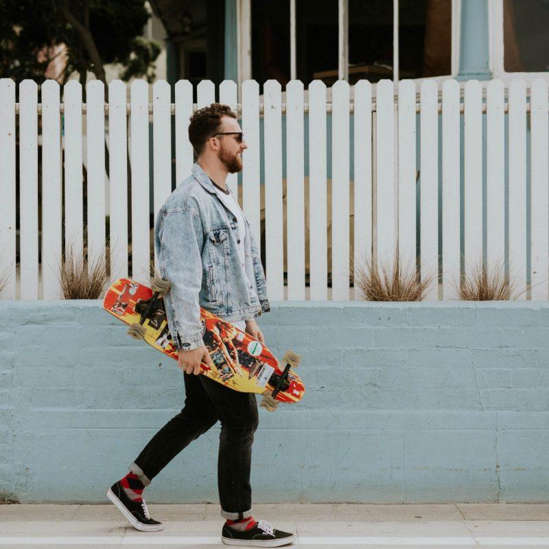 Happy Skateboarder